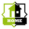 Home design over white background vector illustration Stock Images