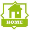 Home design over white background vector illustration Royalty Free Stock Image