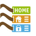 Home design over white background vector illustration Stock Photography
