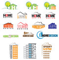 Home design set logos for Stock Photo