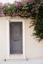 Home door in saint tropez street view winter season france Stock Images