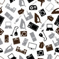 Home electrical appliances gray pattern eps Royalty Free Stock Image