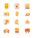 Home electronics icons | JUICY series Stock Images