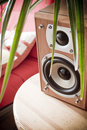 Home entertainment speaker Stock Photo