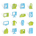Home equipment icons Stock Images
