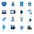 Home equipment icons Royalty Free Stock Images