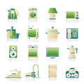 Home equipment icons vector icon set Royalty Free Stock Photos