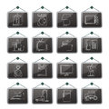 Home equipment icons vector icon set Stock Photos