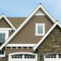 Home Exterior House Roof Peak Stock Image