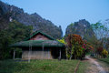The home is filled with forests vang vieng Royalty Free Stock Image