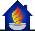 Home flame logo Royalty Free Stock Photo