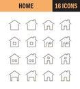 Home flat icon Royalty Free Stock Photo