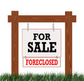 Home Foreclosed Sign Stock Photography