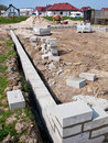 Home foundations Royalty Free Stock Photo