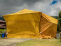 Home Fumigation Pest Control Tent Royalty Free Stock Photo