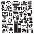 Home furniture and appliances icons