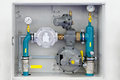 Home gas installation Stock Image
