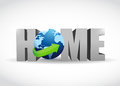 Home globe illustration design over a white background Royalty Free Stock Photography