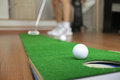 Home Golf Putt Practicing Royalty Free Stock Photo