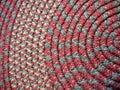 Home: handmade coiled rag rug Royalty Free Stock Photo