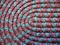 Home: handmade coiled rag rug detail Royalty Free Stock Photo