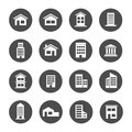 Home house building residence bank apartment townhome icon Royalty Free Stock Photo