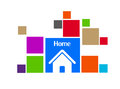Home icon design business Stock Photography