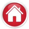 Home icon premium red round button Royalty Free Stock Photo