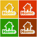 Home icon usable for different design Royalty Free Stock Photos