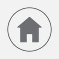 Home icon vector, solid illustration, pictogram isolated on gray.