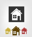 Home icons this is file of eps format Royalty Free Stock Images