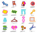Home icons set Stock Images