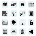 Home icons set Royalty Free Stock Images