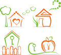Home (icons), vector illustration Royalty Free Stock Photos