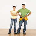 Home improvement couple. Royalty Free Stock Image