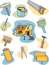 Home Improvement Icons Royalty Free Stock Photos
