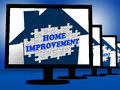 Home improvement on monitors shows home design shows or projects Royalty Free Stock Photography