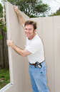 Home Improvement - Putting Up Wall Royalty Free Stock Images