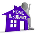 Home insurance house means insuring property meaning Royalty Free Stock Image