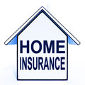 Home insurance house means protecting and insuring meaning property Royalty Free Stock Photography