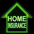 Home insurance means protecting and insuring property meaning Royalty Free Stock Photo
