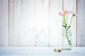 Home interior decor,bouquet of pink flowers. Royalty Free Stock Photo