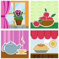 Home interior graphics vector Royalty Free Stock Image