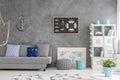 Home interior with marine decor Royalty Free Stock Photo