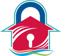 Home key logo illustration art of a with isolated background Royalty Free Stock Photo