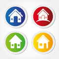 Home labels over white background vector illustration Royalty Free Stock Photos