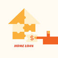 Home loan concept minimal design Royalty Free Stock Photos