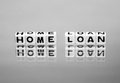Home loan message on reflective surface Royalty Free Stock Image