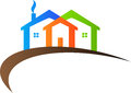 Home logo a vector drawing represents design Stock Image