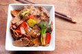 Home made beef stir fry Royalty Free Stock Photo